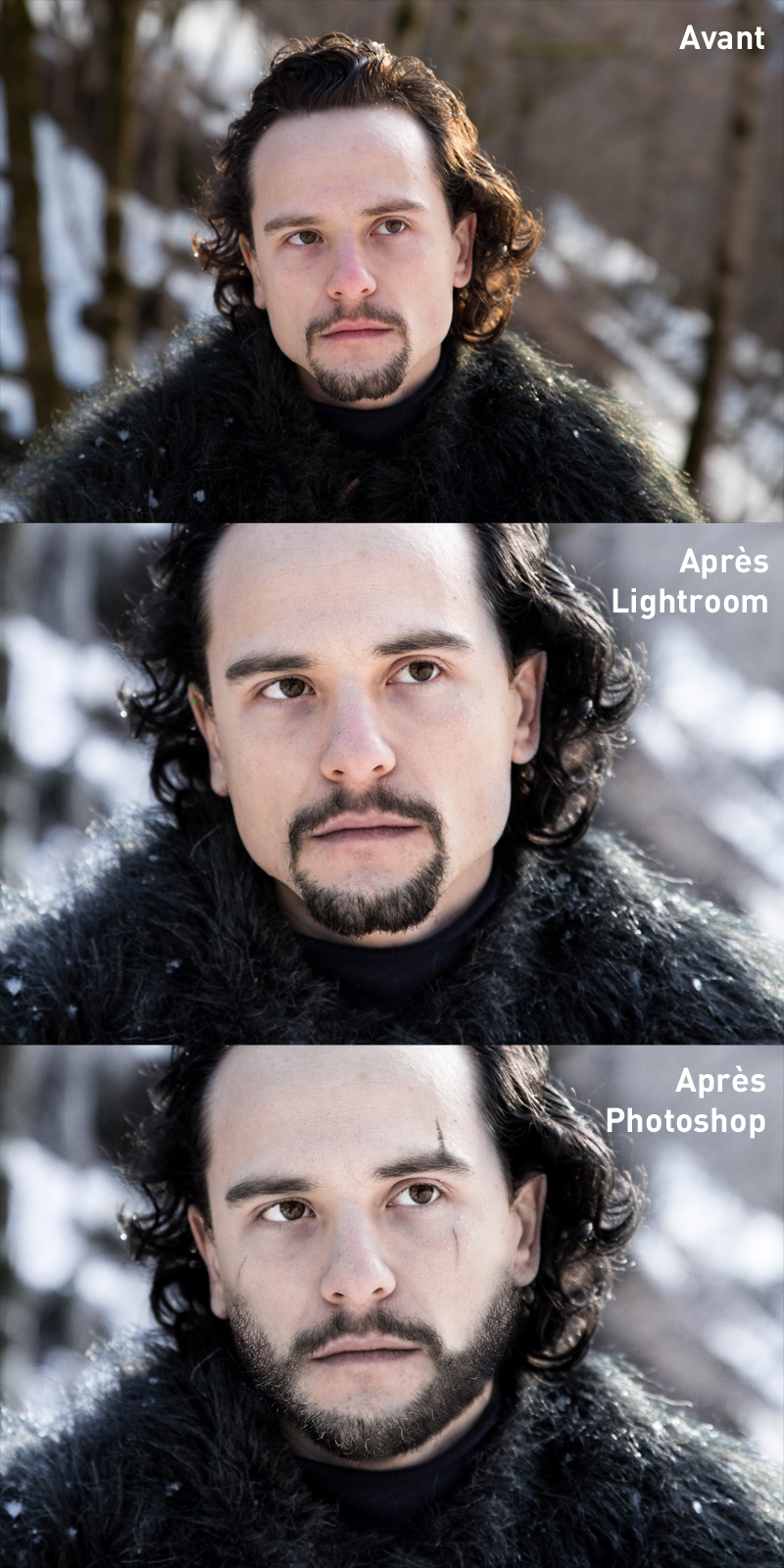 game of thrones transformation retouche photo