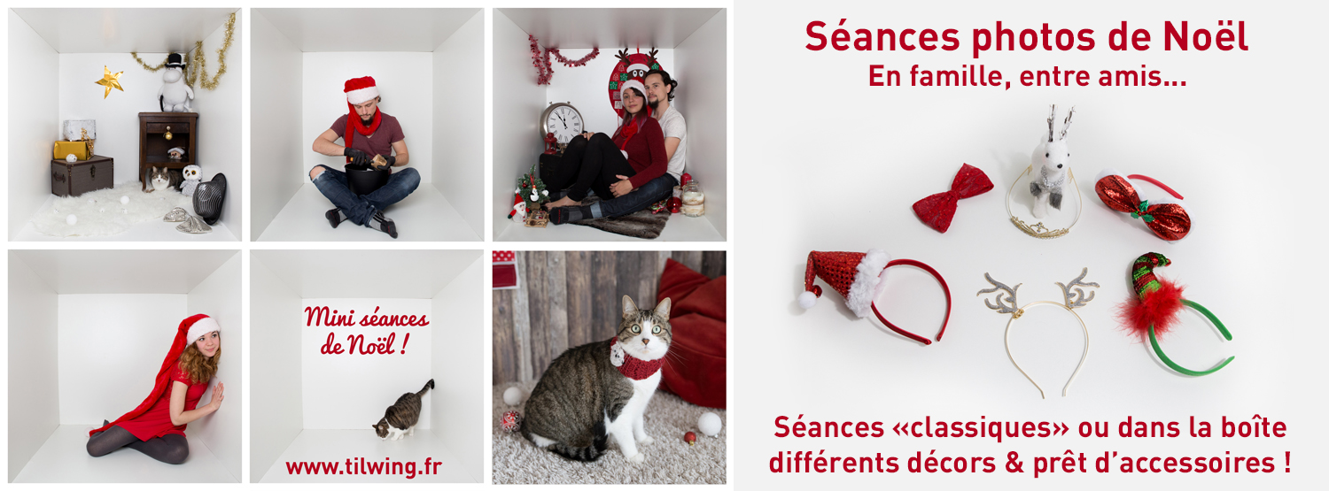 séance photo Noël studio