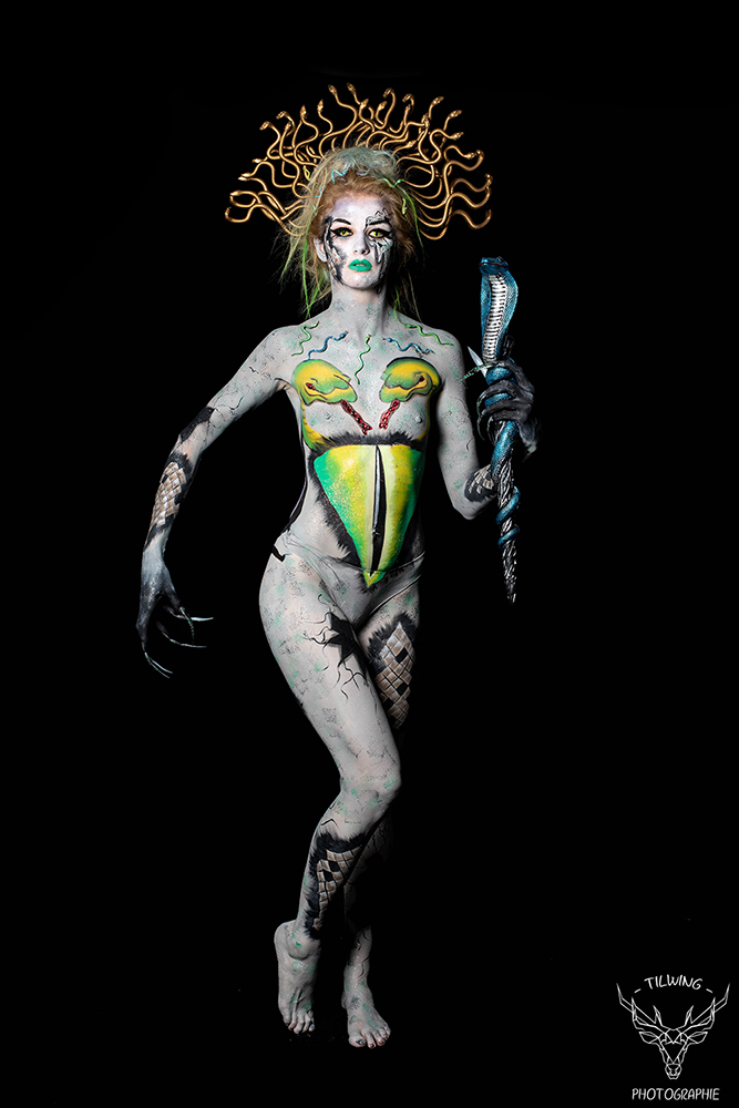 gala école maquillage Nantes EFCE body painting