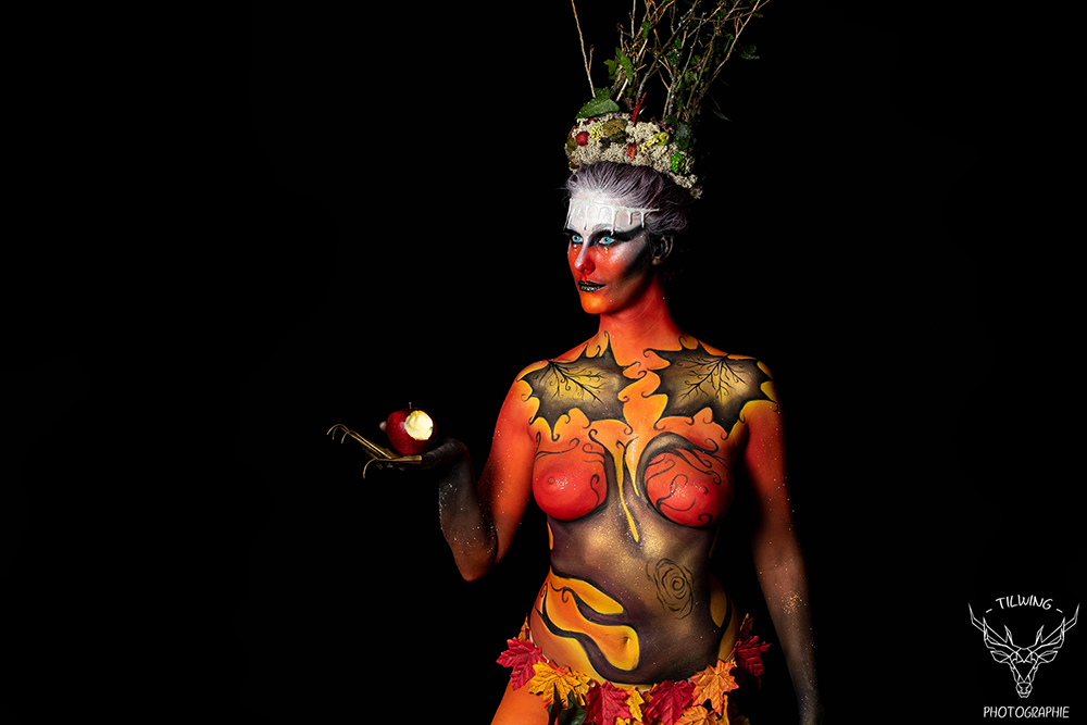 studio photo Nantes body painting