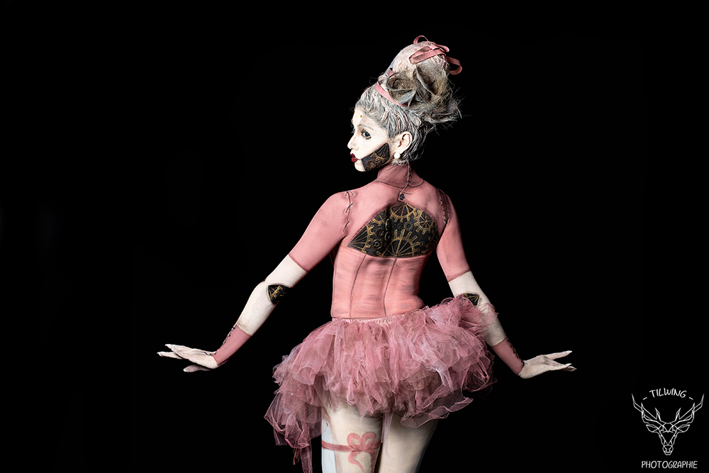 studio photo Nantes body painting danseuse